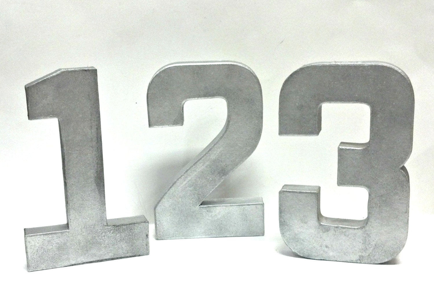 Tin Letters And Numbers Rustic Metal Table Numbers Faux Galvanized Metal Set Of 5