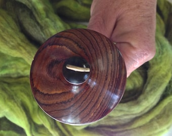 Spindle Cocobolo Bowl Shape top whorl spindle with hand crafted Ebony shaft