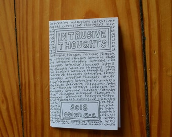 Intrusive Thoughts mini zine