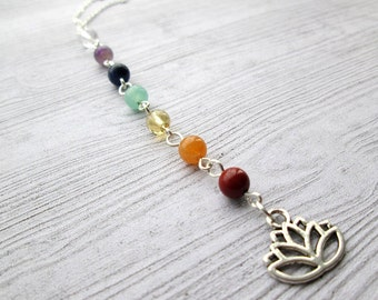 Chakra Necklace, Chakra Jewellery, Chakra Jewelry, Chakra lotus, Yoga necklace, Lotus necklace, lotus pendant, pagan necklace, Lotus flower