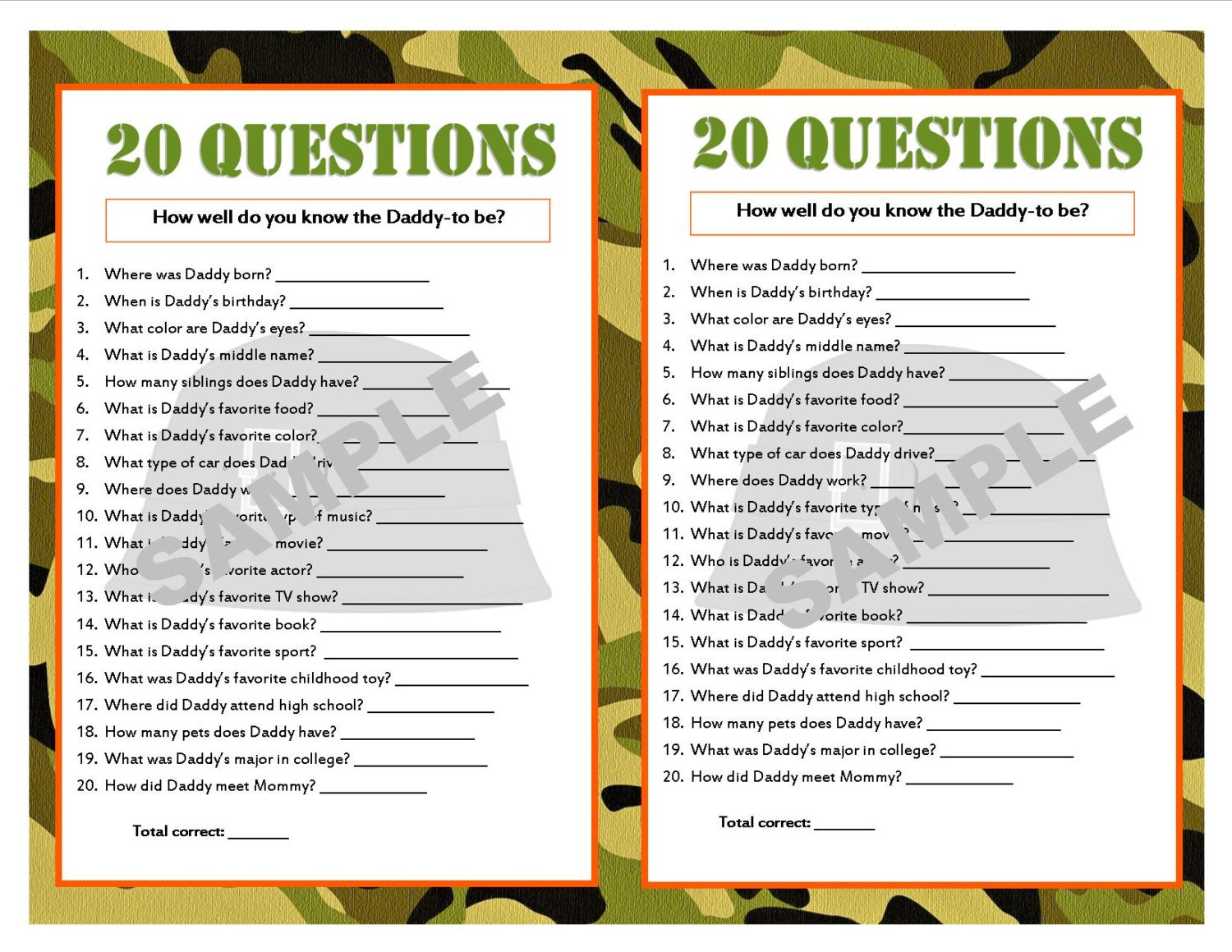 Best 20 questions game questions