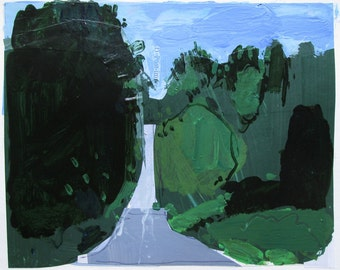Summit, July 9, Original Collage Painting on Paper, Stooshinoff