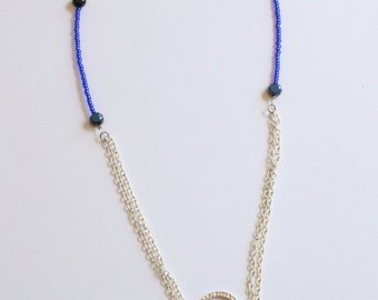 Many Shades of Blue Statement Pendant Necklace