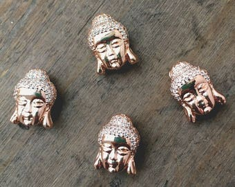 Rose Gold Buddha Bead- DIY Jewelry