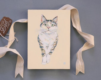 Pet portrait hand painted for cat & dog owners!