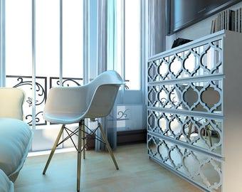 Fretwork - Trellis - Overlays - Furniture Appliques - Malm, Hemnes or Custom - Mirror - Lattice - Refurbish - SKU:TrellisMI