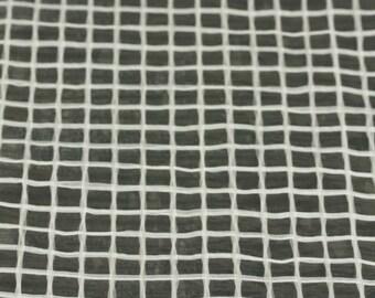 Reinforced Film / Wet Felting Supply / 1x2 meter White