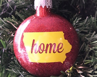 "Iowa State ""home"" Christmas Ornament - free shipping!"