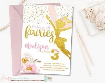 Fairy Invitation, Fairy Birthday Invitation, Woodland Fairy Invitation, Garden Party Invitation, Fairies Invitation, Fairy Birthday Party