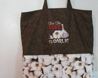 For the Love of Garlic Tote Bag, Shopping Bag