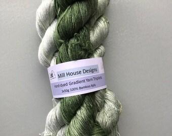 Handdyed Yarn, pure bamboo yarn, bamboo yarn, gradient yarn,
