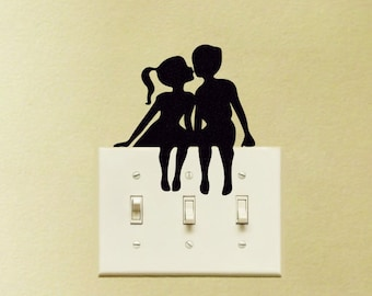 Couple Kissing Decal Vinyl Sticker Cute Romantic Teen Kids Love Laptop MacBook