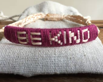 Be Kind Bracelet, inspirational gifts, good luck gifts, good luck bracelet, affirmation jewellery