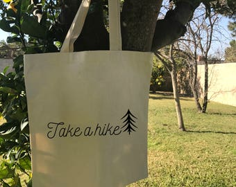 Take a Hike tote hiking camping mountains workout motivation inspiration