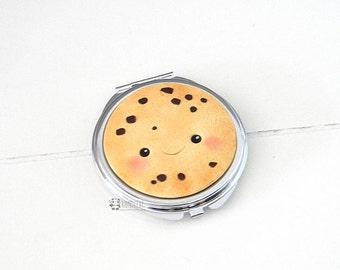 Cookie Biscuit Mirror, kawaii, Fimo stock mirror, pocket mirror, Pocket mirror, Polymer clay