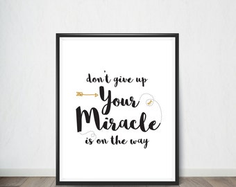 Don't give up Inspirational Quote, Art Print, Quote, Inspirational Quote Print, Digital Art, Digital Art Print, Digital Artworks