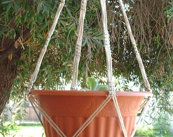 Macrame Plant Hanger Vintage Style 4mm, 36 inch Pearl