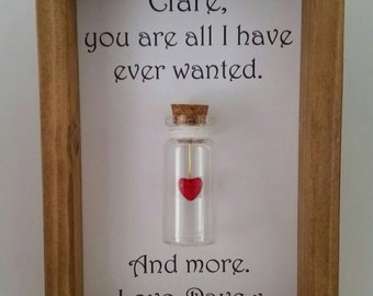 Christmas gift for wife, Wife gift, Wife birthday gift, Anniversary gift. Can be personalised with names or your own message.