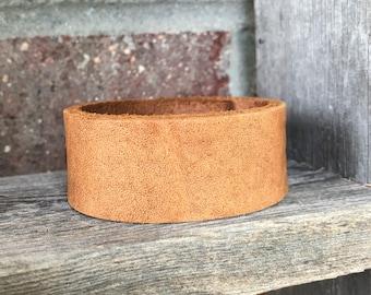 Tan Leather Cuff Bracelet*Boho Leather Bracelet*Leather Jewelry*Leather Cuff*Brown Leather*Repurposed*Cuff Bracelet*Boho Jewelry*Vintage