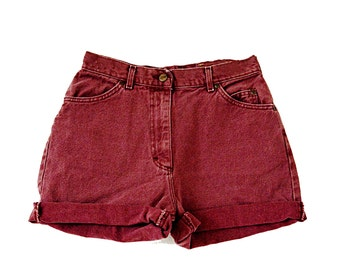 SALE - Maroon High Waisted Shorts