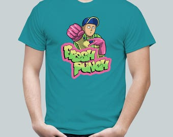 Fresh Punch / One-Punch Man Tee / Fresh Prince Saitama Mash-up / Mens T Shirt