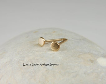 Solid Gold Stud Earrings Small Studs 14K Gold Earrings Simple Gold Earrings Gold Nugget Jewelry