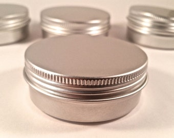 2oz (15ct) Cosmetic Empty Tins, Screw Top  (FREE SHIPPING) ETSY