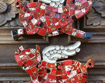 Flying Piggy mosaic