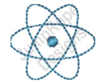 Atomic Symbol - Machine Embroidery Design