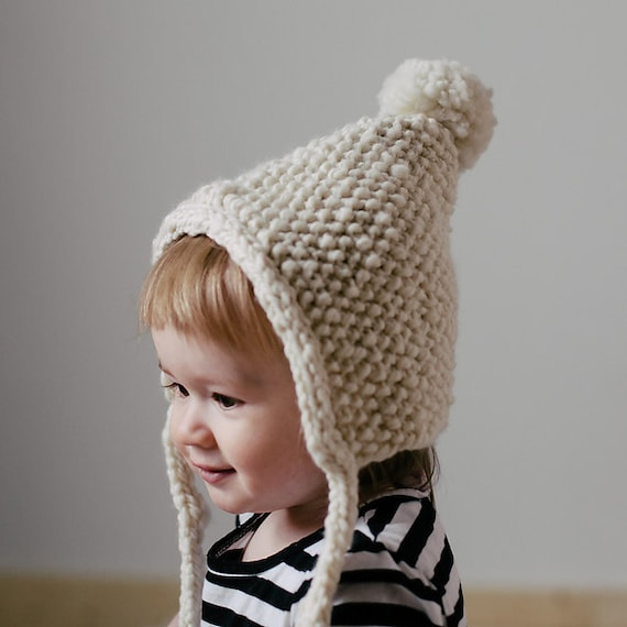 Knit baby bonnet pattern, knit toddler bonnet pattern, knit bonnet ...