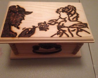 Beauty and the Beast jewelry/trinket box