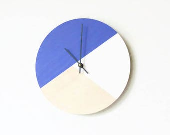 Modern Wall Clock, Geometric Wood Clocks, Housewares, Home and Living, Unique Wall Clock