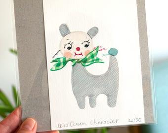 Textile Character - Studio Object Series Original Painting Artwork