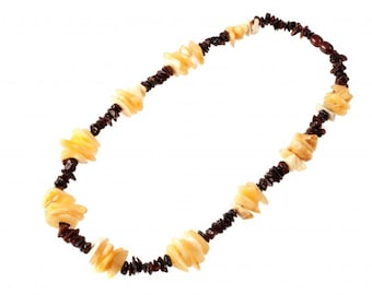 Baltic Stylized Amber Necklace Beads