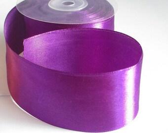 1 m 50mm purple satin ribbon