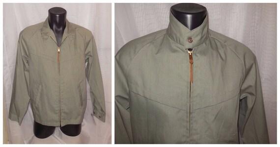 1950s Vintage Men's Zipper Raincoat Jacket - XL IuGOu1
