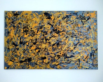 """Contemporary acrylic abstract painting """"911"""" (ready to hang)"""