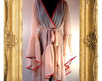 Pink Chiffon Peignoir Robe