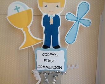 Boys First Communion Party Centerpiece