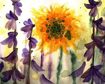 Wildflower Fine Art Print, bloemsierkunst, moderne botanische kunst Print 10 x 8 botanische kunst