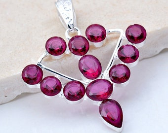 Pendant shape pink large bow (x 1) silver plated