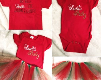 Holiday Christmas Onsie / Shirt & Tutu