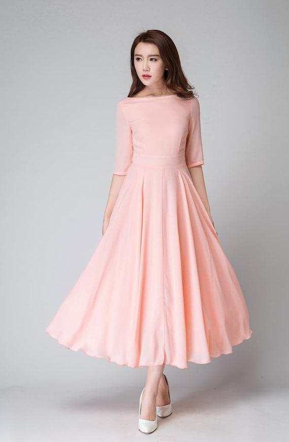 Pink Chiffon Dresses