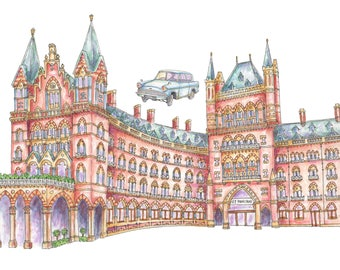 Illustrated London Art Print of St Pancras