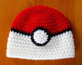 Pokemon Hat, Pokemon Inspired Hat, Newborn to Adult Hat, Photo Prop, Christmas Gift Idea, Winter Hat, Character Hat, Baby Gift Idea, Pokemon
