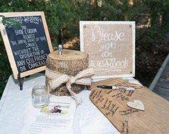 Mason Jar Wedding Guest Book Wedding Guest Book Wedding Autograph Sign Guest Book Alternative #DownInTheBoondocks