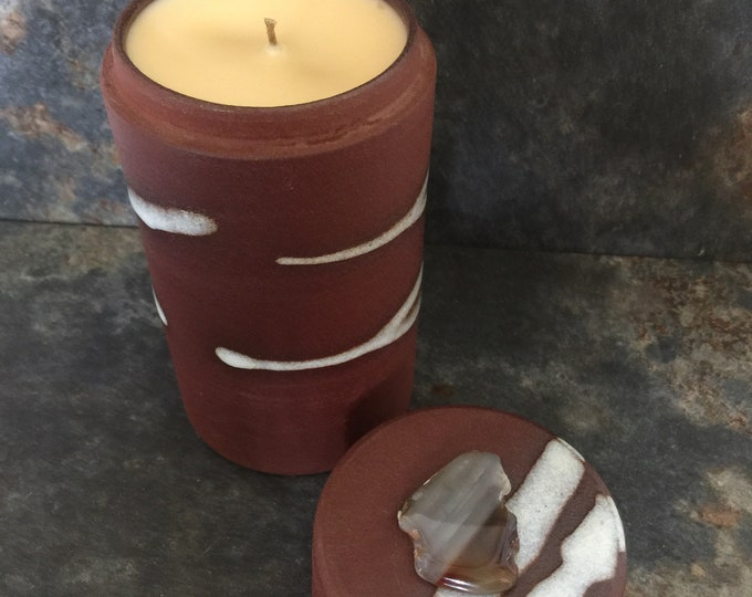 Modern Rustic  Unisex Soy-Bee Treasure Candle