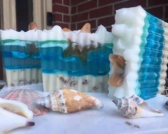 Ocean Life, Bar Soap, Ocean Life Soap, Hand Crafted Soap, Beach Theme Soap