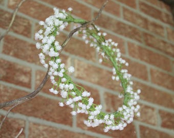 Baby Breath Crown, flower crown, floral crown, babies breath crown, babys breath crown, gypsophila crown, white flower crown, dainty crown