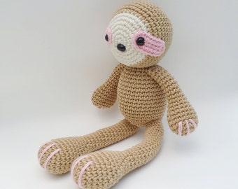 Sloth Plush, Sloth Stuffed animal, Sloth Plushie, Sloth Stuffed Toy, Crochet Sloth